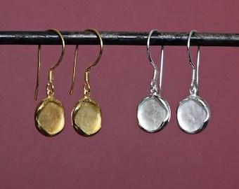 Silver Drop Earrings, Gold Drop Earrings, Disc Earrings, Textured Earrings, Round Earrings, Simple Earrings, Sterling Silver, Gold Vermeil