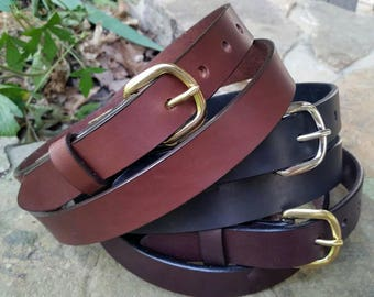 "1""Full Grain Leather Belts Brown (1435)  Black (2436) Dark Brown (4438)"