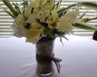 Medium vase of lilies