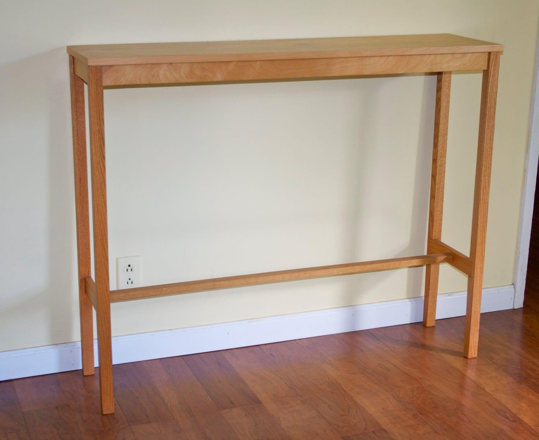 Foyer Table Oak : Tall narrow console table
