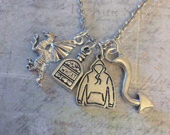 Defending Superheroes Necklace, Fandom Jewelry, Fandom Necklace, Comic Book Jewelry, Cosplay Jewelry