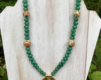 Chinese Garden Vintage Necklace
