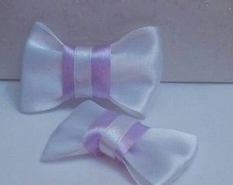 set of 2 bows rustle 57 x 37 mm scrapbooking