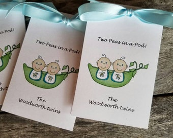 Adorable Two Peas in the Pod Sweet Peas Double the Blessings Baby shower Flower Seed Party Favors