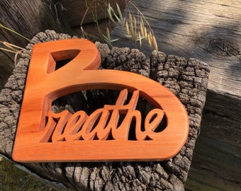Breathe - Handcrafted Art Made from Sustainable Red Grandis wood