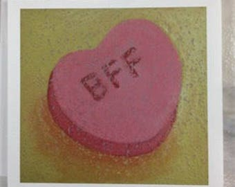 BFF valentine card - friendship card - best friend card