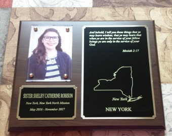 8x10 cherry wood missionary plaque