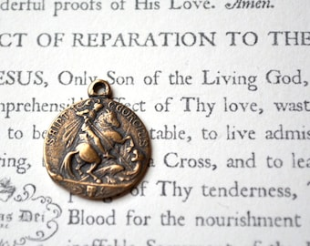 """St George Medal - 7/8"""" -Bronze - Vintage Replica - Made in the USA (M191-752)"""