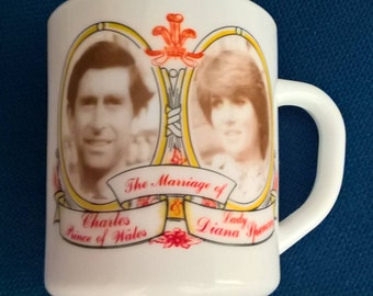 Charles & Diana Royal Wedding 1981 Mug, Princess Diana, To Commemorate The Wedding Of Lady Diana Spencer Princess + HRH Prince Charles