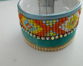 Blue and orange cuff