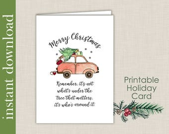Printable Christmas, Printable Card, Christmas Card, Merry Christmas, across the miles, Christmas download, card download, cute Christmas