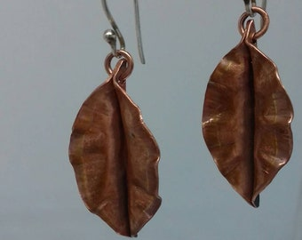 Leaf Earrings Fold Forming