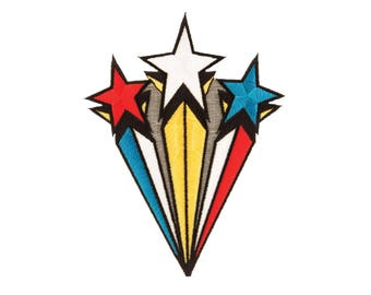 Stars Iron On Applique,  Stars Iron On Patch, Genuine DC Comics Patch, Superhero Applique, Embroidered Patch, Kids Patch, 4 x 5 inches