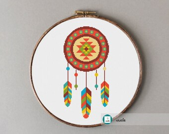 Dream catcher cross stitch pattern,modern pattern, PDF, DIY ** instant download**free shipping
