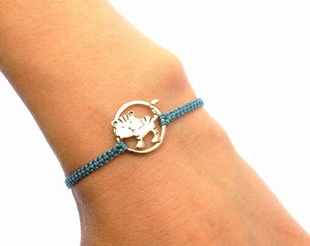 Year of the Tiger Bracelet - Sterling Silver Tiger Bracelet - Chinese Zodiac Sign Jewellery