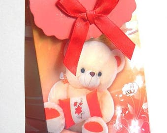 2 boxes gifts for kids 105 x 75 mm printed Teddy bear