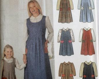 Misses Jumper Sewing Pattern - Childs Jumper Sewing Pattern - Mother Daughter Sewing Pattern - Simplicity 5900 - New - Uncut - Size 3-8/6-18