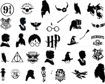 Harry Potter, Digital Silhouette, Vector Files, svg, eps, jpg, png, download