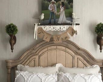 TI  AMO - Italian for I Love You - Burlap Banner - Choose your Colors - Wedding Photo Prop.