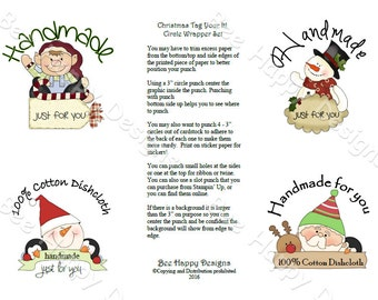 """PDF Printable """"Christmas Tag Your IT"""" Circle Wrapper/Label Set - NO background graphic"""