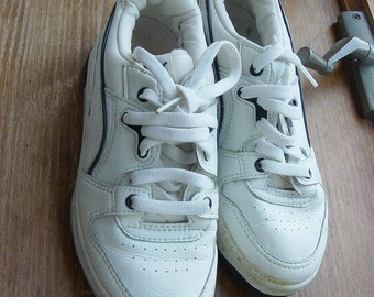vintage 80s rare puma white leather sneakers sz 5