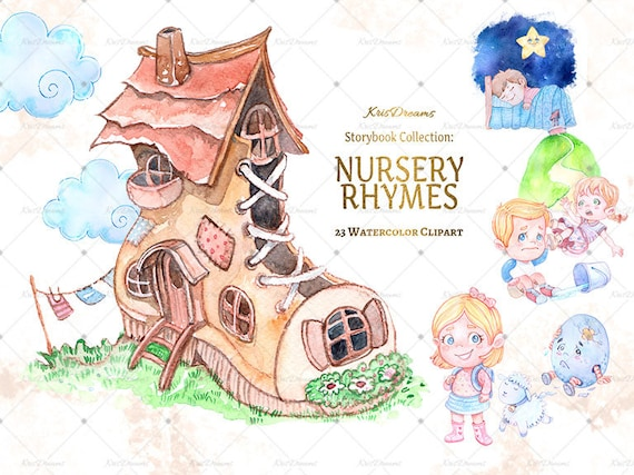 Nursery Rhyme Clip Art Watercolor Clip Art Children S Book