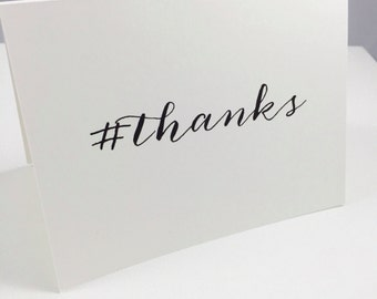 Hashtag Thanks Greeting Card - Set of 10