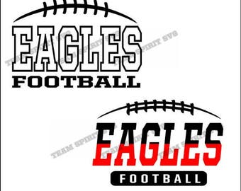 Eagles Football Laces Download Files - SVG, DXF, EPS, Silhouette Studio, Vinyl Cut Files, Digital Cut Files -Use with Cricut and Silhouette