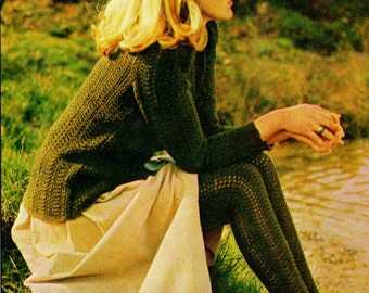 Sweater and Stockings Vintage Knitting Pattern Instant Download