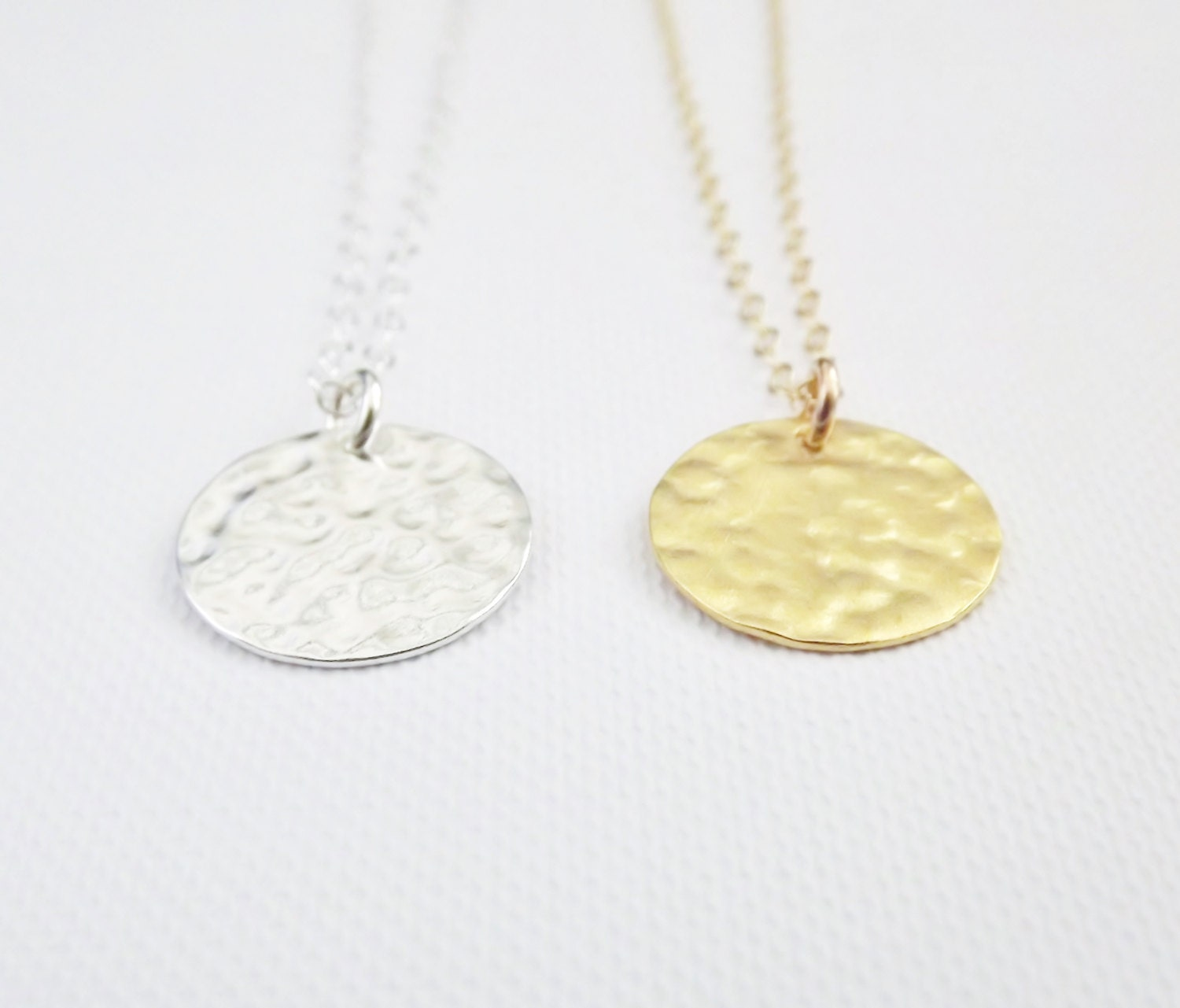 gold vintage pendant necklace silver chain hardy john link palu round with sterling hammered oval