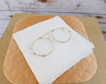Vintage Gold Filled Prince Nez style Glasses