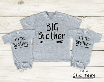 Big Brother to Twins, Matching Brother Shirts, 3 sibling brother shirts, 3 brother shirts, 3 brother shirt set, shirts for three brothers