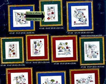 Provinces of Canada Needlepoint kit Alberta design home decor Janlynn Unused counted cross stitch  81294 DIY craft project