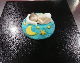 Sleepy Baby cake topper