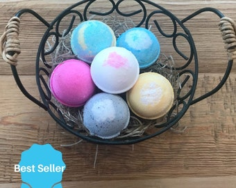 6 Bath Bombs Gift Set | Natural Bathbomb | Vegan Bathbombs | Organic Bathbombs | Bath Fizziebath
