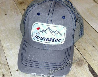 Tennessee Smoky Mountains Trucker or Baseball Hat - Smokies Strong