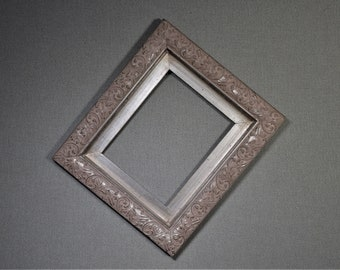 8x10 Frame Silver Ornate Wood with Optional Glass and Matting Complete Kit
