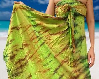 Tie Dye Dress  Skirt Boho Gypsie Gypsy Hippie Lime Green