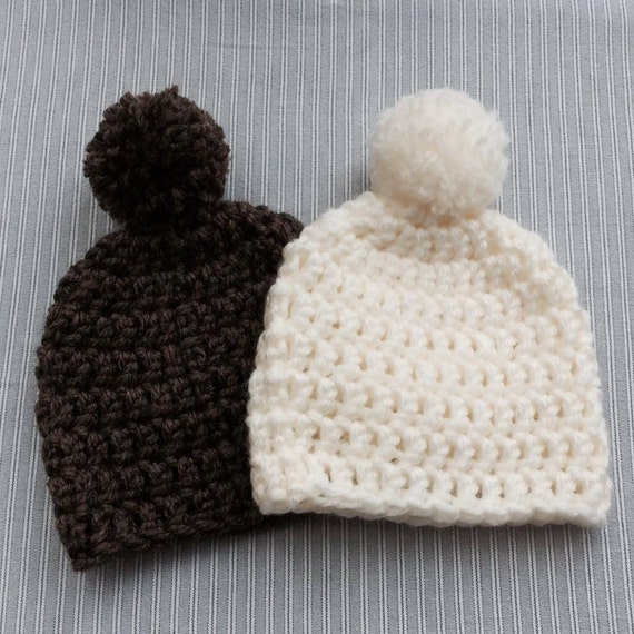 Morgan Crochet Super Chunky Bobble Hat Pattern Pom Pom Hat