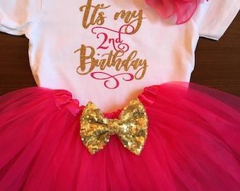 Baby girl birthday set tutu onesie
