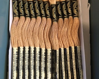 DMC 437 Light Tan Embroidery Floss 2 Skeins 6 Strand Thread for Embroidery Cross Stitch Needlepoint Sewing Beading