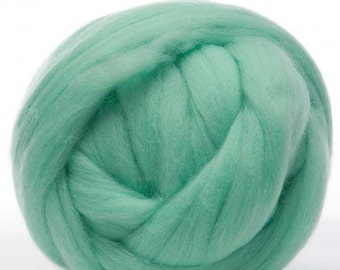 Merino Wool Top - 22.5 micron -Aqua - 4 ounces