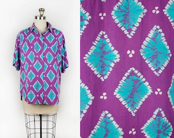 Vintage 90's  Batik Summer Surf Shirt