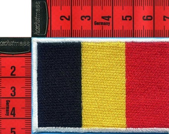 Coat of arms flag Belgian sewing 7 x 4.5 cm. Patch applique