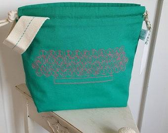 Neon Typewriter Drawstring Project Bag