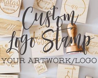 Custom Logo Stamp, Shop Rubber Stamp, Business Stamp, Branding Stamp, Logo Packaging Rubber Stamp, Etsy Seller Stamp - Your Logo or Artwork