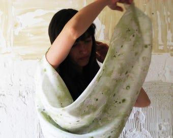 Drawn by silk shawl