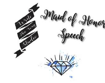 Maid/Matron of Honor Speech Writing Service - Write This Way Studio - Wedding Services - Maid of Honor - Matron of Honor - Speech Writing