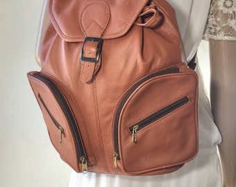 Backpack Bag, Large Leather Backpack, Brown Leather