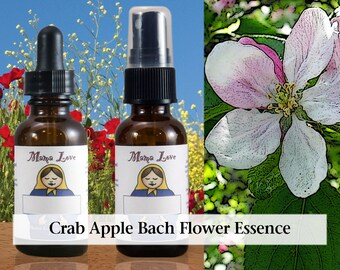 Crab Apple Bach Flower Essence, 1 oz Dropper or Spray for Clearing Toxicity when Feeling Unclean or Obsessed with Imperfections